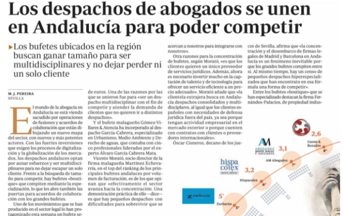 Gaona y Rozados Abogados despacho de referencia en Andalucía según el ranking de ABC
