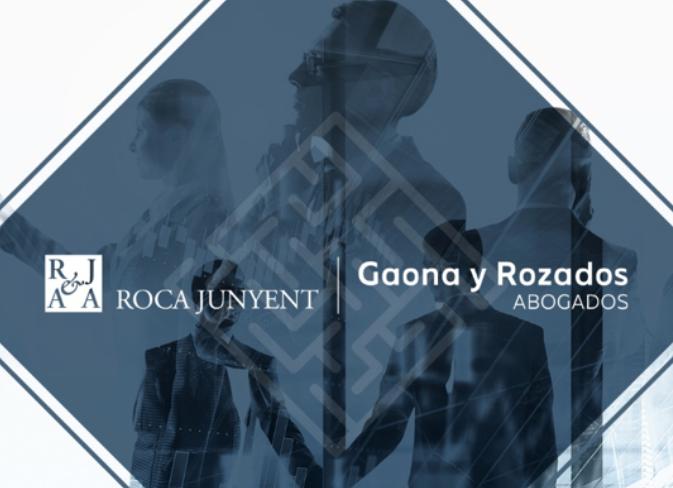 Gaona y Rozados Abogados cambia de identidad corporativa para reflejar el acuerdo con Roca Junyent