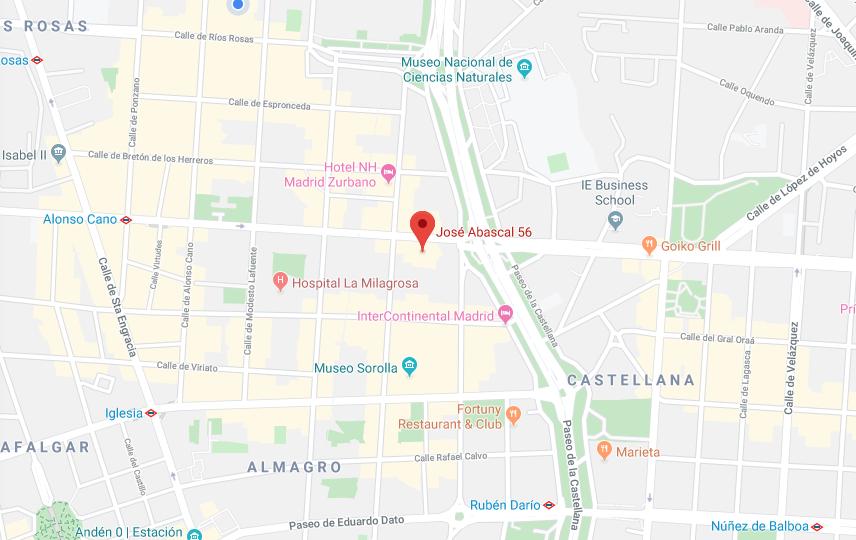 ¡Nos trasladamos de sede en Madrid a la calle José Abascal nº56!