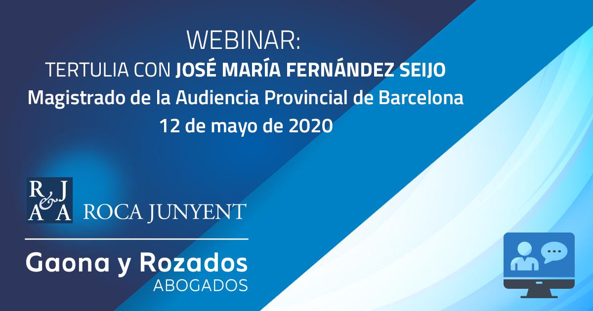 Webinar con José María Fernandez Seijo