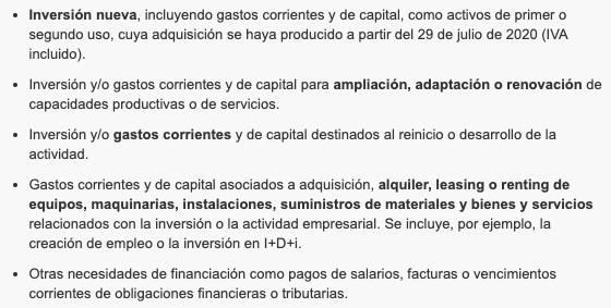 Línea de Avales Inversión